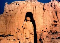 Афганистан - Статуя Будды вырезанная в скале.