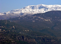Антиливан, горная цепь между Ливаном и Сирией.