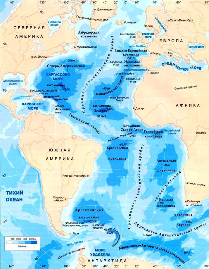 картинки карты атлантического океана популярности