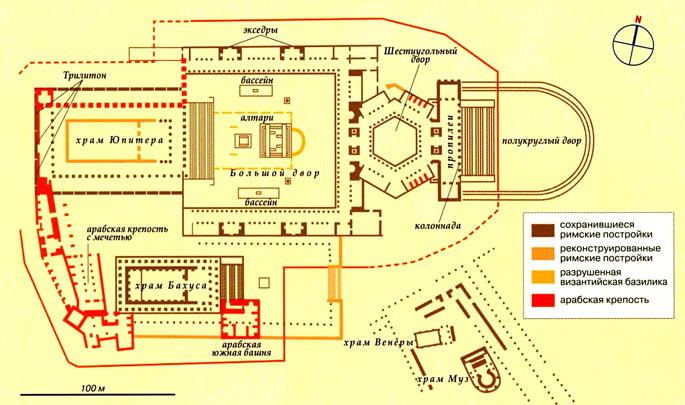 карта города Баальбек
