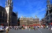 Центральная площадь Брюсселя Грян-Пляс - Бельгия.