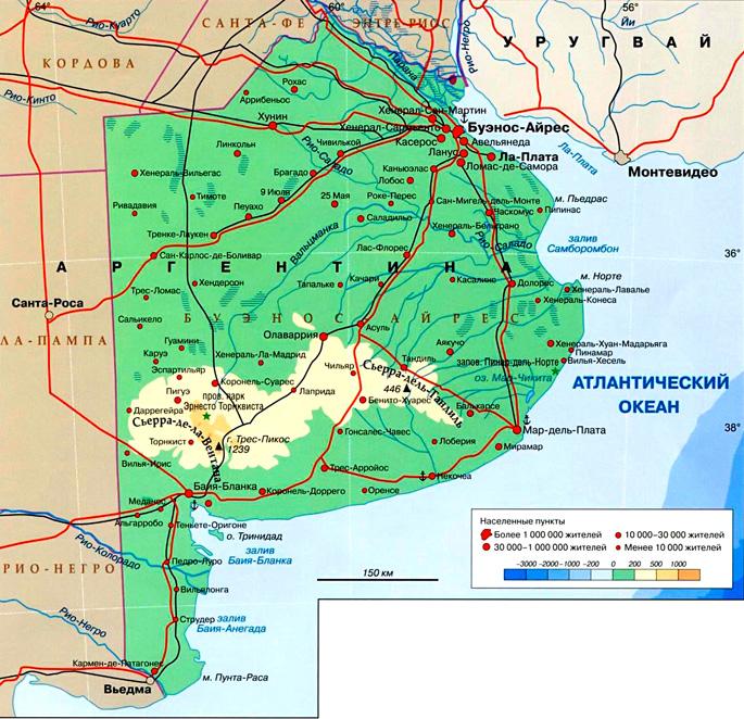 Провинция Буэнос-Айрес на карте