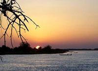 Озеро чад. Центральная Африка