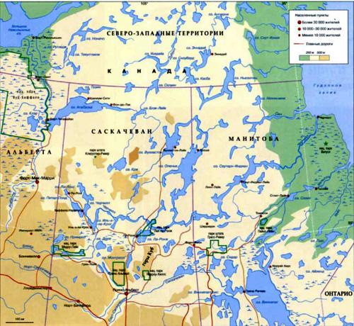 Черчилл Географическая карта.