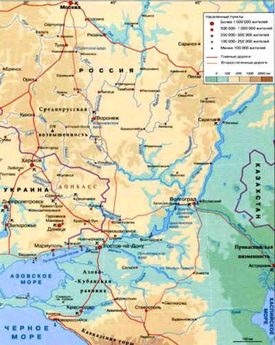 Бассейн реки дон на географической