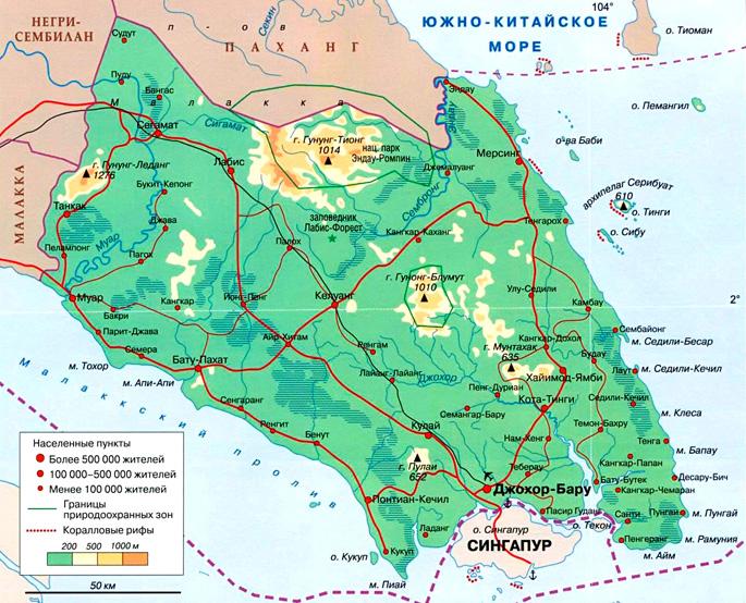 Султанат Джохор на карте