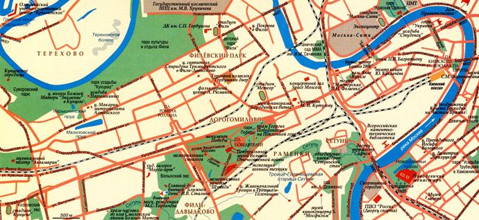 Фили на карте (Москва)