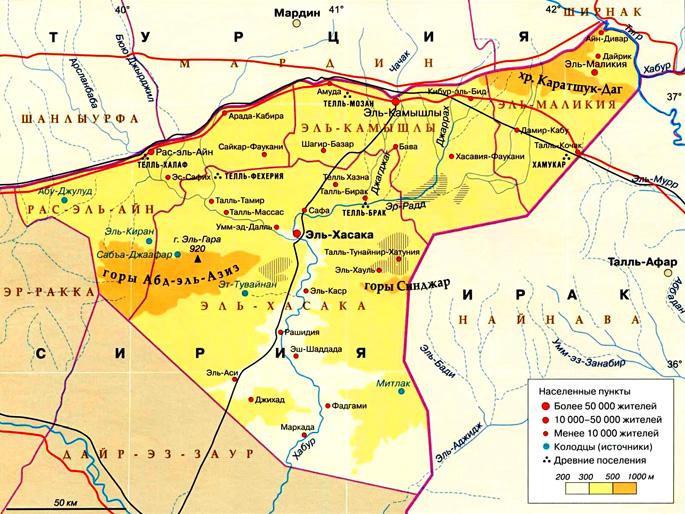 Мухафаза Хасеке на карте