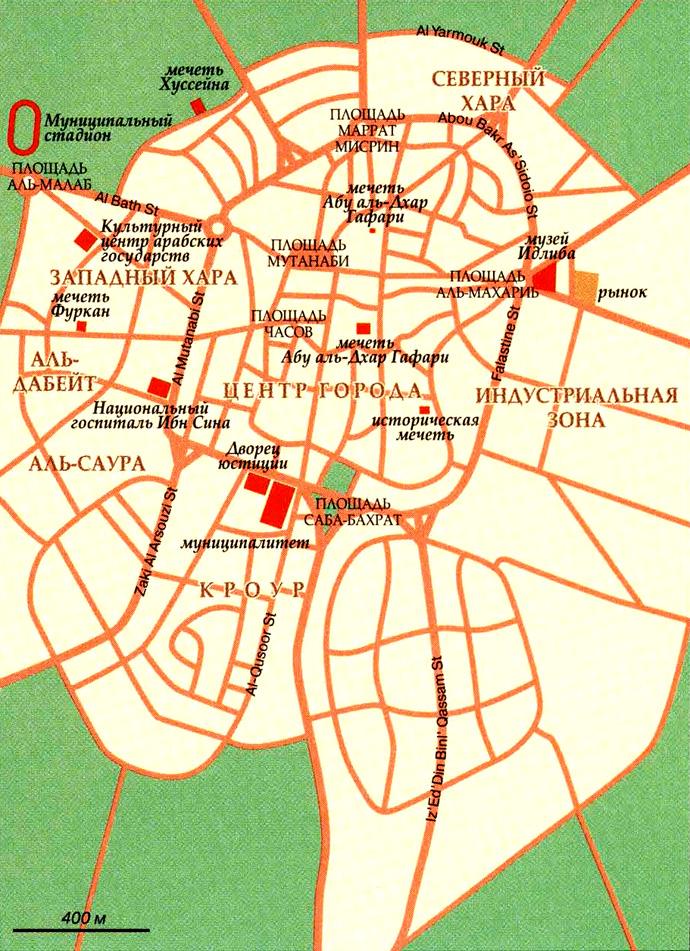 Карта города Идлиб