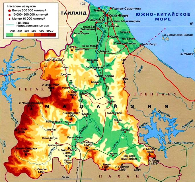 Султанат Келантан на карте
