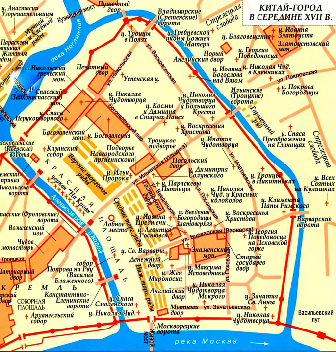 Китай-город на карте