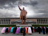 Северная Корея - Памятник Мансудэ в Пхеньяне