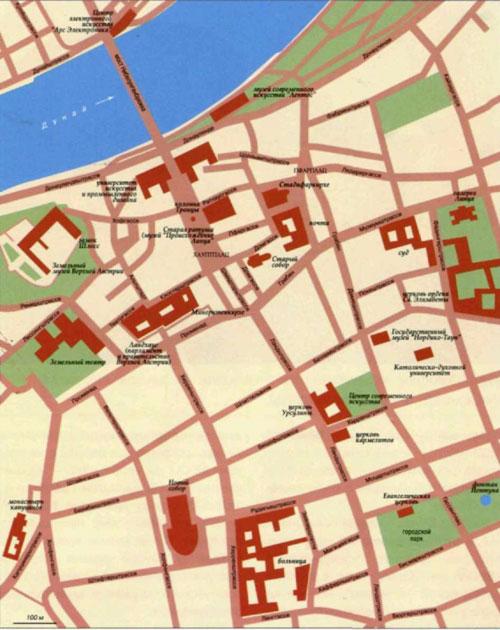 Топографическая карта города Линца