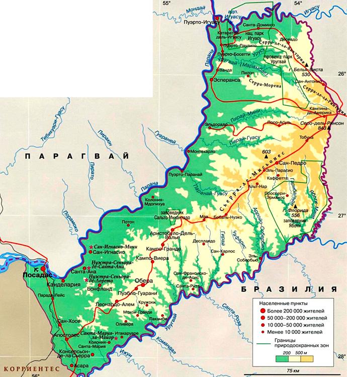 Провинция Мисьонес на карте