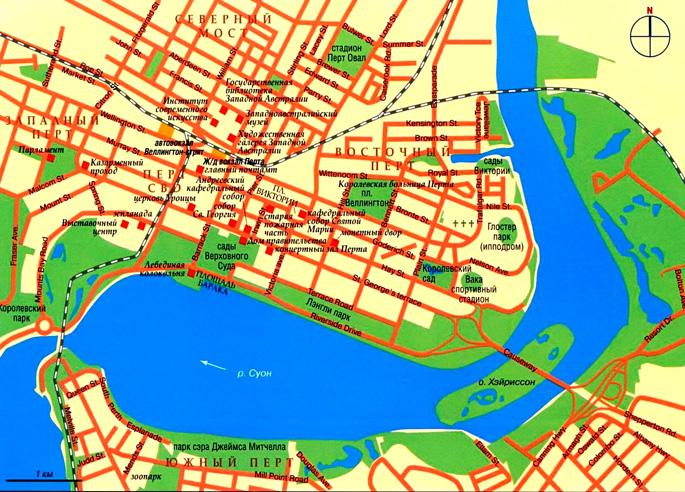 Карта города Перт