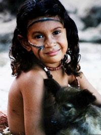 Мальчик с собакой - Папуа-Новая Гвинея