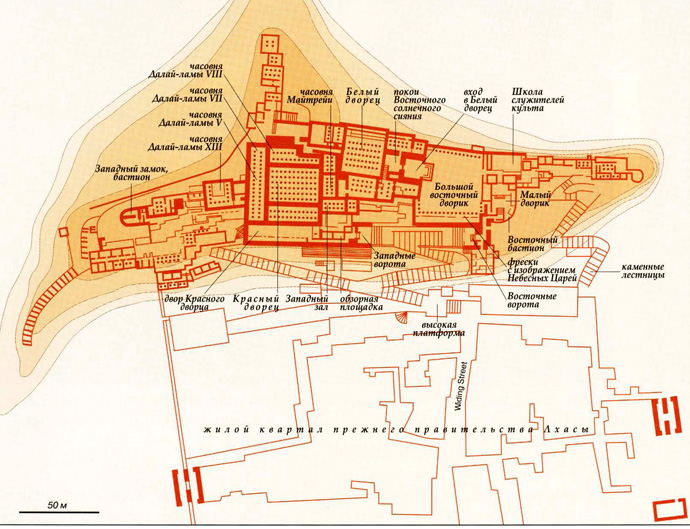 Царский дворец и буддийский храмовый комплекс Потала на карте