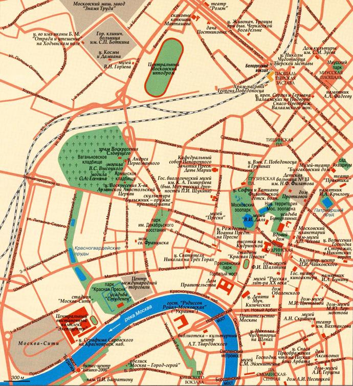 Пресня на карте Москвы