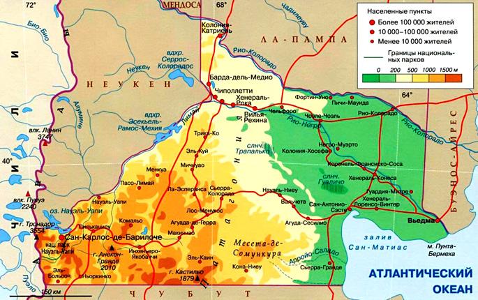 провинция Рио-Негро на карте