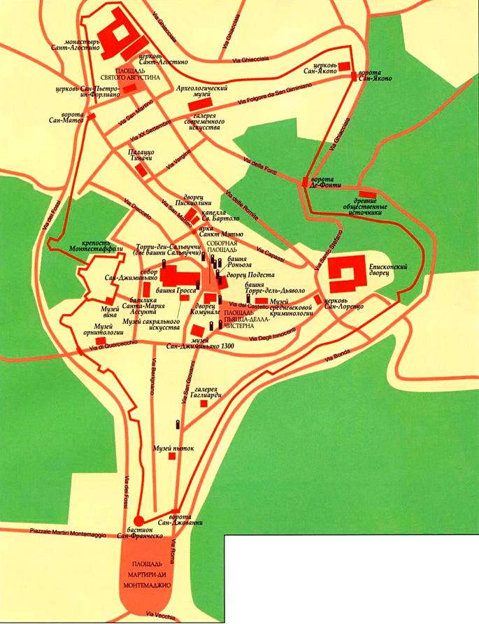 Сан-Джиминьяно на карте