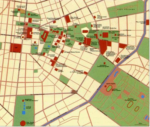 Топографическая карта Софии