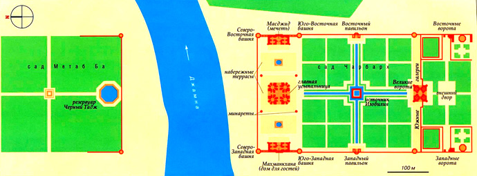 Тадж-Махал на карте