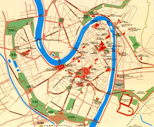 Город Верона на топографической карте, Италия.