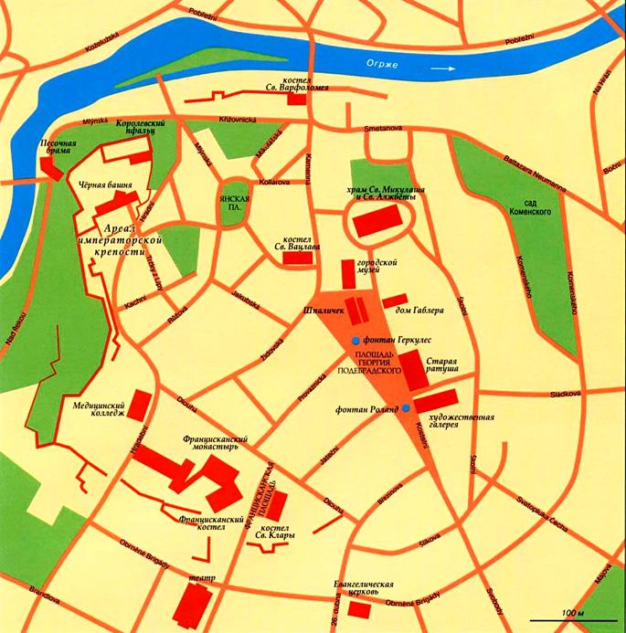 Карта города Хеб