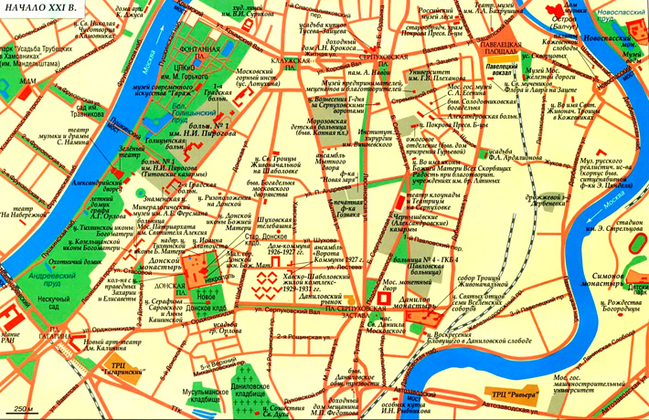 Карта Южного Замоскворечья начало 21 века