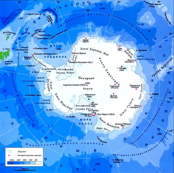 Карта где находится южный океан на карте