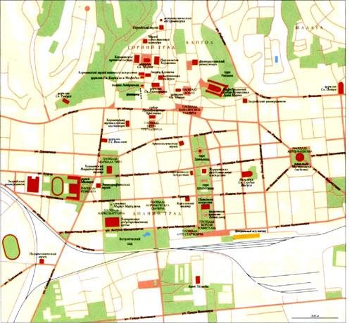 Загреб на топографической карте, Хорватия.