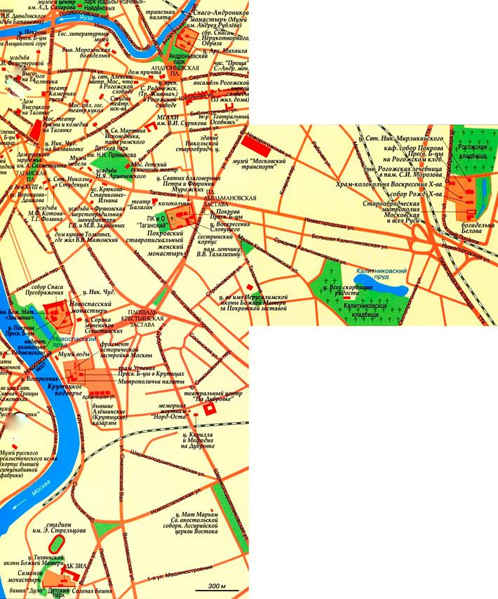 Заузье на карте Москвы