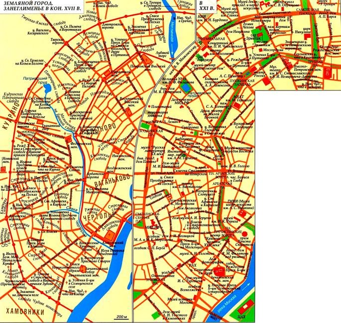 Занеглименье Москвы на карте