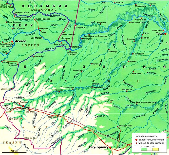 Река Журуа на карте