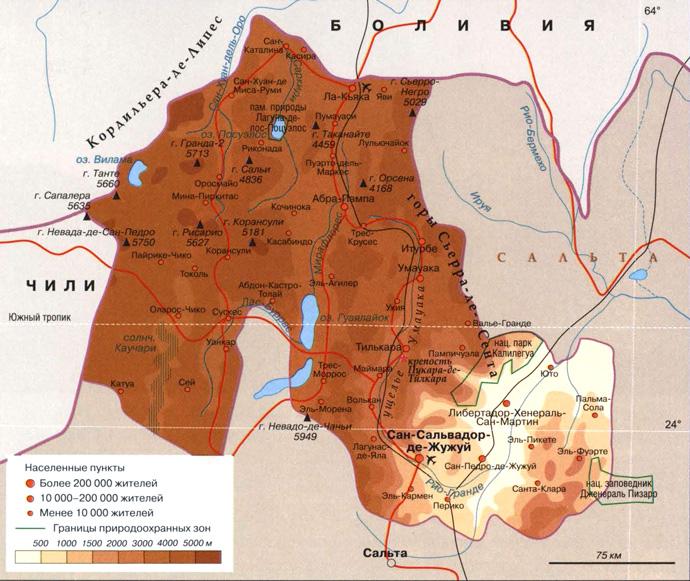 Провинция Жужуй на карте