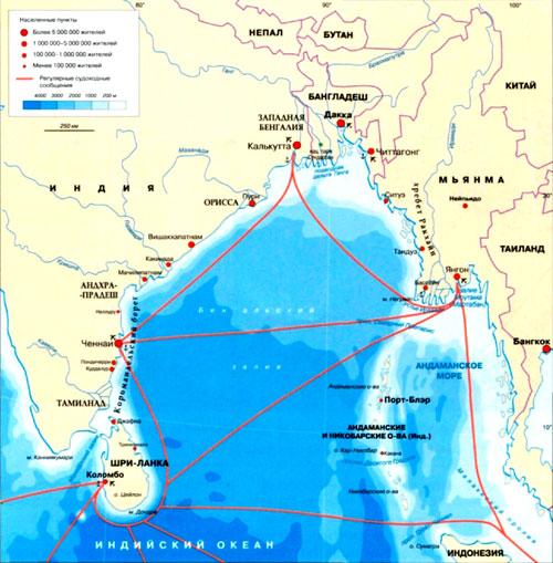 крупная карта шри-ланки