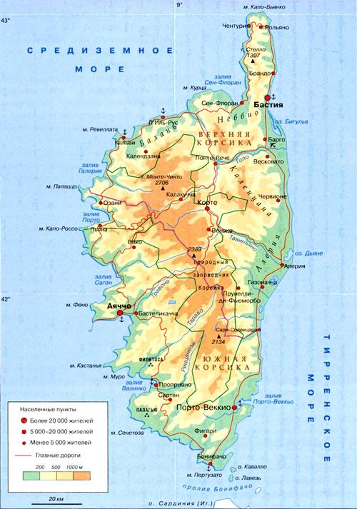 Картинки по запросу карта острова Корсика
