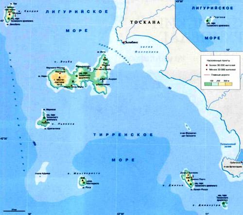 Island in Rimini on the map